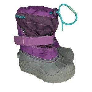 Columbia Boots Size 9 Toddler Purple Snow Winter